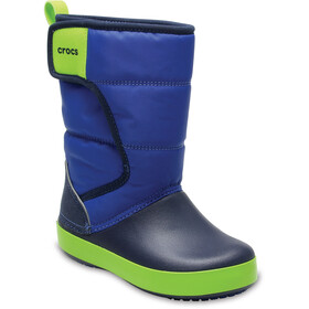 Crocs LodgePoint Boots de neige Enfant, blue jean/navy